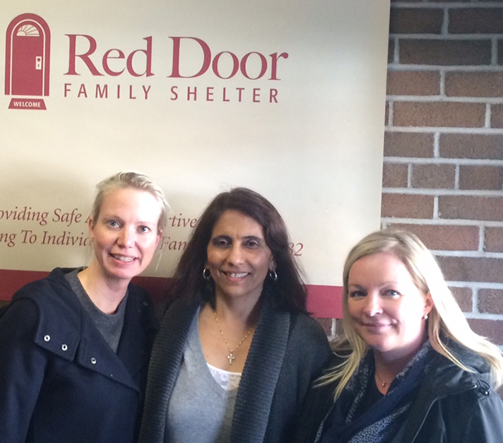Helping Out at the Red Door Food Bank
